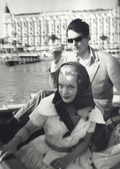 Romy Schneider and Alain Delon in Cannes, photographed by Claude Azoulay