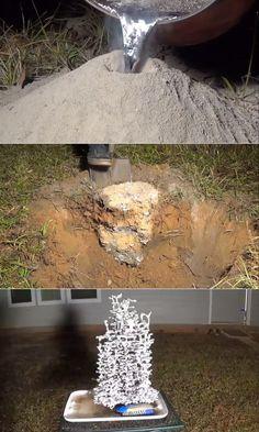Casting A Fire Ant Colony's Tunnels w/ Molten Aluminum
