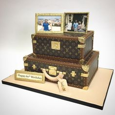 A Fabulous LV Hardcase Cake To Celebrate Big Birthday Deliciousarts 60thbirthday
