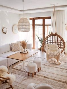 70 Living Room Decorating Ideas You'll Want To Steal ASAP Boho living room Boho Living Room, Cozy Living Rooms, How To Decorate Small Living Room, Rustic Modern Living Room, Daybed In Living Room, Boho Room, Condo Living, Bohemian Living, Dining Rooms