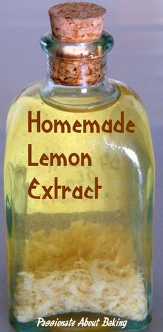 Homemade lemon extract