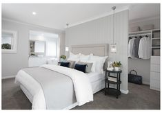 Master Bedroom Plans, Master Bedroom Layout, Feature Wall Bedroom, Small Master Bedroom, Bedroom Closet Design, Bedroom With Ensuite, Bedroom Layouts, Bedroom Styles, Home Bedroom