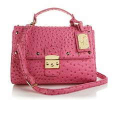 Serena Williams Ostrich Embossed Studded Satchel At Hsn