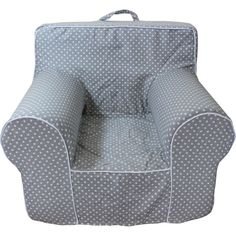 Oversize Grey Microdot Chair Cover for Foam Childrens Chair