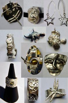 compilatie van wat werkstukken gemaakt in de workshop zilverklei bij edelsmid Marja Schilt www.marjaschilt.nl