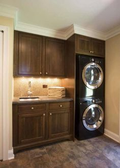 A small laundry room can be a challenge to keep laundry room cabinets functional, yet since this laundry room organization space is constantly in use, we have some inspiring design laundry room ideas. Laundry Mud Room, Decor, Room Remodeling, Room Inspiration, Laundry In Bathroom, Home Decor, Room Makeover, House Interior, Room Design