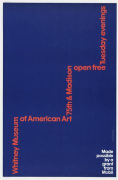 Ivan Chermayeff and Thomas Geismar. Whitney Museum of American Art