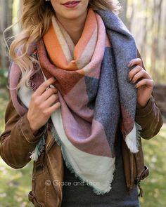 Blanket Scarf- Terracotta