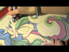This is so amazing it's beyond words- Speed drawing MLP - Two sisters: Celestia and Luna - YouTube
