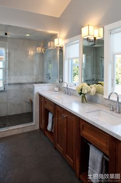 Home bathroom long narrow on pinterest long narrow for Long bathroom designs