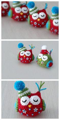 Amigurumi Baby Owl Free Pattern – Amigurumi Free Patterns And Tutorials Owl Crochet Pattern Free, Crochet Birds, Crochet Patterns Amigurumi, Crochet Toys, Owl Pillow Pattern, Free Crochet, Free Pattern, Knitting Patterns, Beginner Crochet Projects