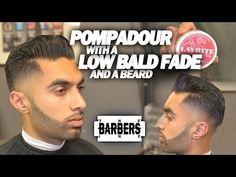 HOW TO: Pompadour w/ Low Bald Fade & Beard | Men's Haircut Tutorial | HD - 1080