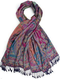 Indian hippy chic boho viscose fine woven scarf //shawl ~ purple multi