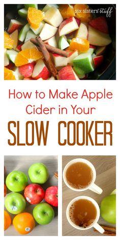 Homemade Apple Cider | Six Sisters' Stuff