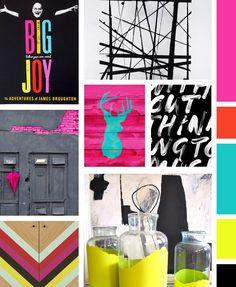 Bold, Urban and Graphic Mood Board / Made Vibrant #colorpalette #moodboard #design