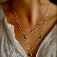 Shixin® Vintage Gem Alloy Tiny Pendant Necklace (Golden) (1 Pc) – USD $ 3.99