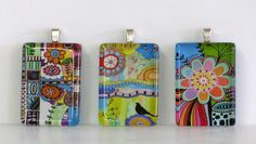 Any Three Glass Pendants With Chains Your Choice by BethNadlerArt, $30.00