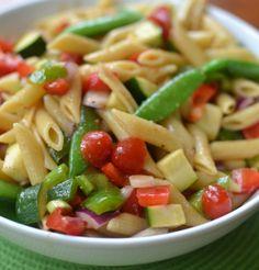 Fresh Summer Vegetable Pasta Salad | Small Town Woman