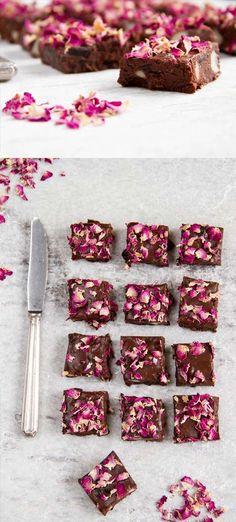 roses are edible flowers dried rose petal brownies desserts
