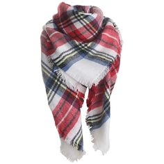Womens Fashion Warm Plaid Shawl Scarf Ruby (£8.70) ❤ liked on Polyvore featuring accessories, scarves, ruby, tartan plaid shawl, tartan plaid scarves, plaid shawl, tartan scarves and plaid scarves