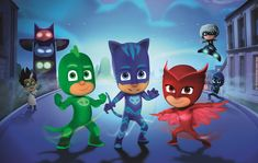 PJ Masks makes it's international broadcast debut on Disney Junior in the U. on Friday, September and will debut in France later this fall. The new show will then launch on Disney Junior channels around the globe in Mascaras Pj Masks, Pj Max, Festa Pj Masks, Superhero Shows, Superhero Party, Personalized Banners, Birthday Backdrop, Banner Backdrop, Disney Junior