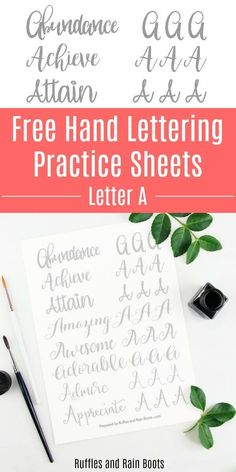 A Calligraphy Practice Sheets - 8 Styles! Get this free letter A calligraphy practice, featuring modern calligraphy, bounce lettering, and brush lettering styles! via Bounce or The Bounce may refer to: Modern Calligraphy Tutorial, Hand Lettering Tutorial, Learn Calligraphy, Calligraphy Worksheets Free, Calligraphy Handwriting, Calligraphy Letters, Creative Lettering, Lettering Styles, Brush Lettering