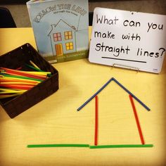 Great preschool center activities or morning work. Read the story to the class and demonstrate their task. Inquiry Based Learning, Learning Centers, Math Centers, Science Inquiry, Early Learning, Kindergarten Stem, Preschool Classroom, 2 Kind, Creative Curriculum