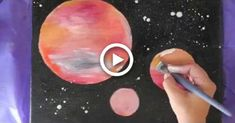 Easy Galaxy Painting for Kids (or adults), Simple and Fun! #painting