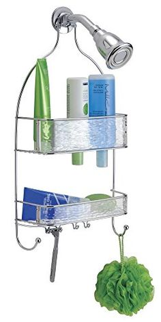 Bathroom Organization: mDesign Waves Bathroom Shower Caddy for Shampoo…