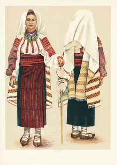 Popular Folk Embroidery Costume and Embroidery of Neamț County, Moldavia, Romania - FolkCostume Romania People, Popular Costumes, Folk Embroidery, Medieval Clothing, Folk Costume, Textiles, Fashion History, Traditional Dresses, How To Wear