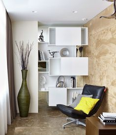 Natural Materials Adorning Sophisticated Moscow Apartment by Alexandra Fedorova - http://freshome.com/2014/12/04/natural-materials-adorning-sophisticated-moscow-apartment-by-alexandra-fedorova/