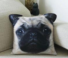 Cushion+cover+Pug+cushion+cover+pillow+cover+Pug+by+BENWINEWIN,+$17.90