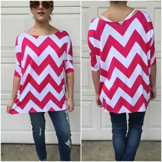 Chevron print tunics Lightweight Fuschia chevron print tunics. Please do not purchase this listing. Comment with size and I will create a new listing for you. Small (2/4) Medium (6/8) Large (10/12). Price is firm unless bundled.  95%rayon 5%spandex Tops Tunics