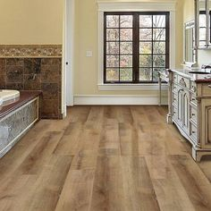 TrafficMASTER Allure Ultra Golden Oak Wheat Resilient Vinyl Plank Flooring - 4 in. x 4 in. Take Home Sample - 10096716 - The Home Depot