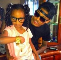 August and his niece.......he is so good with them and he is crazy about his nieces.