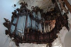 Organy w Katedrze Oliwskiej oliwska Instruments, American Gothic, Pipe Dream, Library Room, Monster Mash, King, Rococo, Architecture, Monuments