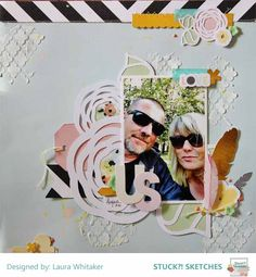 US by Laura Whitaker @ Scrappin Around the Clock for Stuck?! Sketches October 15 2015 DT reveal Pink Paislee