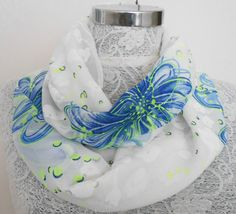 Infinty Loop Scarf scarvesbutterflies poppies by Nazcolleccolors, $16.00
