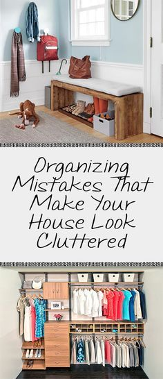 Do you ever get the feeling, even when your house is totally clean, that it still feels cluttered? Well to help with this problem I have come up with some of the most common mistakes that give your home that cluttered feel! And for the record…remember the Organisation Hacks, Clutter Organization, Purse Organization, Shoes Organizer, Organize Your Life, Organizing Your Home, Organizing Tips, Home Improvement Projects, Home Projects
