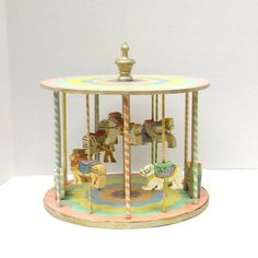 Vintage Carousel  Wooden Carousel  Handmade Carousel by atopdrawer, $35.00