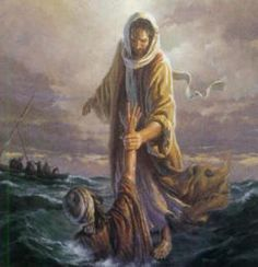 """But when (Peter) saw how (strong) the wind was he became frightened; and, beginning to sink, he cried out, """"Lord, save me!""""          Immediately Jesus stretched out his hand and caught him, and said to him, """"O you of little faith, why did you doubt?""""     Matthew 14:30-31"""