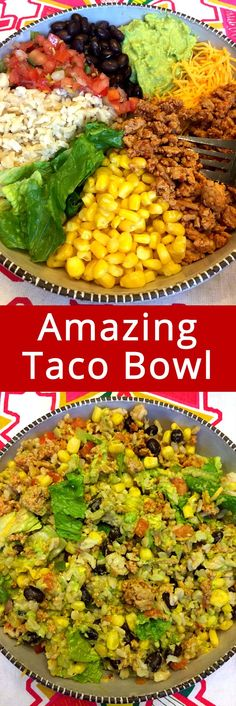 OMG I love these copycat Chipotle burrito bowls with taco meat! This is my new favorite recipe! So easy, healthy and yummy, everyone begs me to make it again!