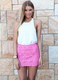 Pink Mini Skirt - Light Pink Lace Mini Skirt | UsTrendy