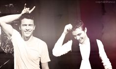 James and Dave Franco. <3 Let's just take a moment to thank their parents for creating such beautiful creatures.