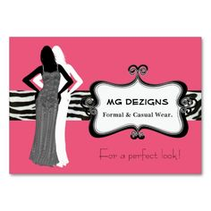 PINK chic fashion boutique Business Cards. This great business card design is available for customization. All text style, colors, sizes can be modified to fit your needs. Just click the image to learn more!