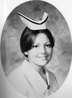 My actual nursing school photo 1975.  I wore that cap for a couple of years too!