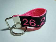 Personalized Runner Marathon Half Marathon Key Fob Ringlet FULLY CUSTOMIZABLE with your Mileage and Colors on Etsy, $7.50