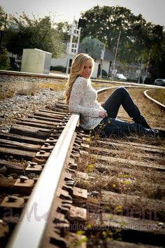 girls on railroad tracks Fashion shoot Winter Park FL