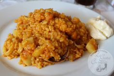 ARROZ A BANDA CON ALIOLI #CocinaEspañola #RecetasDeArroz Spanish Cuisine, Spanish Food, Polenta, Couscous, Cooking Time, Cooking Recipes, Food Inspiration, Great Recipes, Risotto