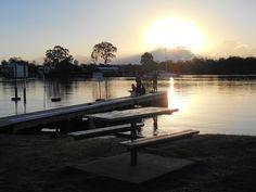 Fishing off the jetty at Noosa Marina, Tewantin